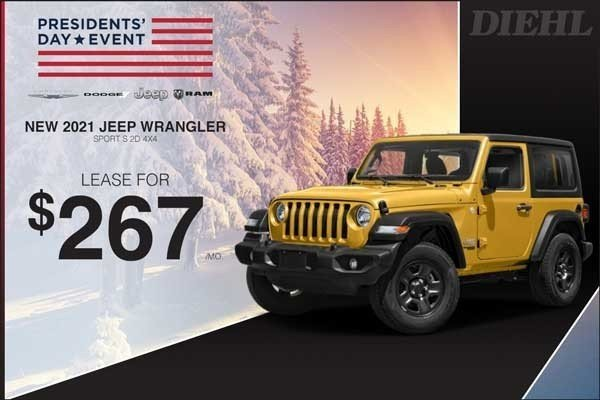 Special offer on 2021 Jeep Wrangler 2021 WRANGLER 2D