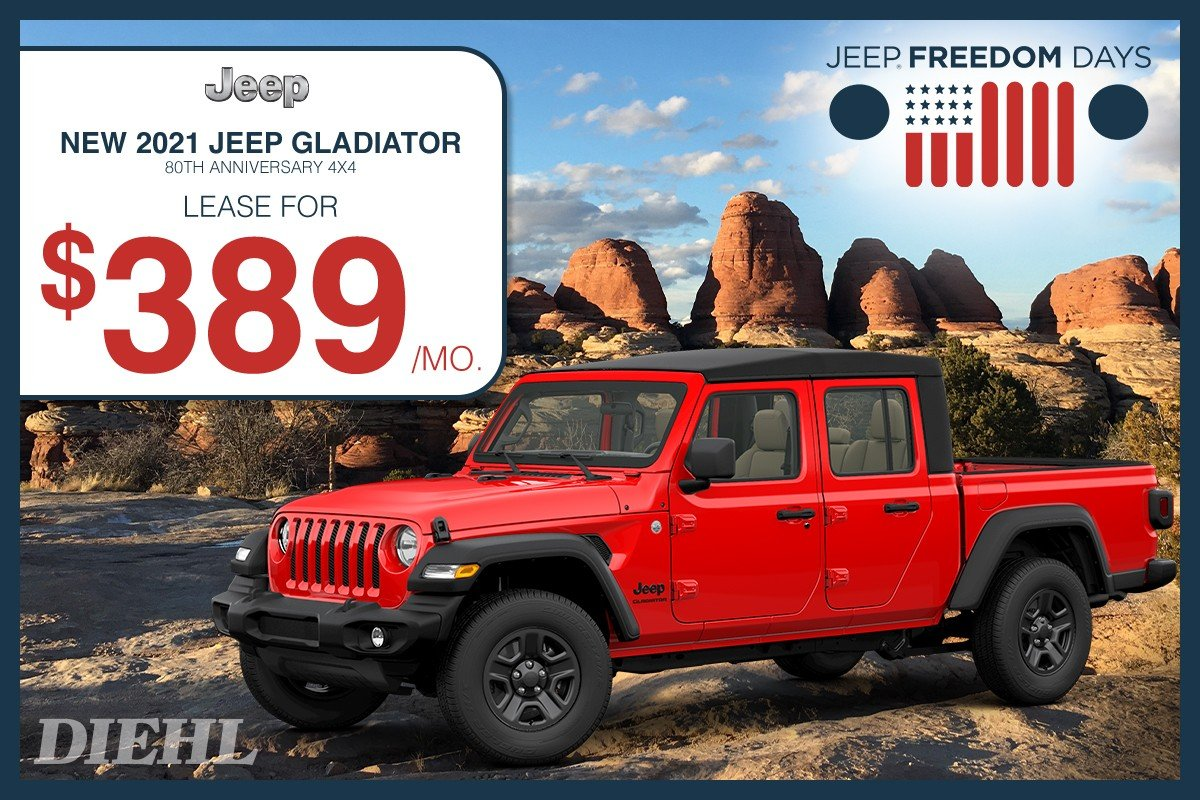 Special offer on 0 Jeep  2021 GLADIATOR