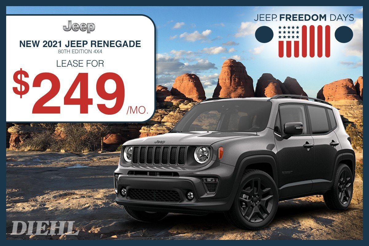 Special offer on 0 Jeep  2021 RENEGADE