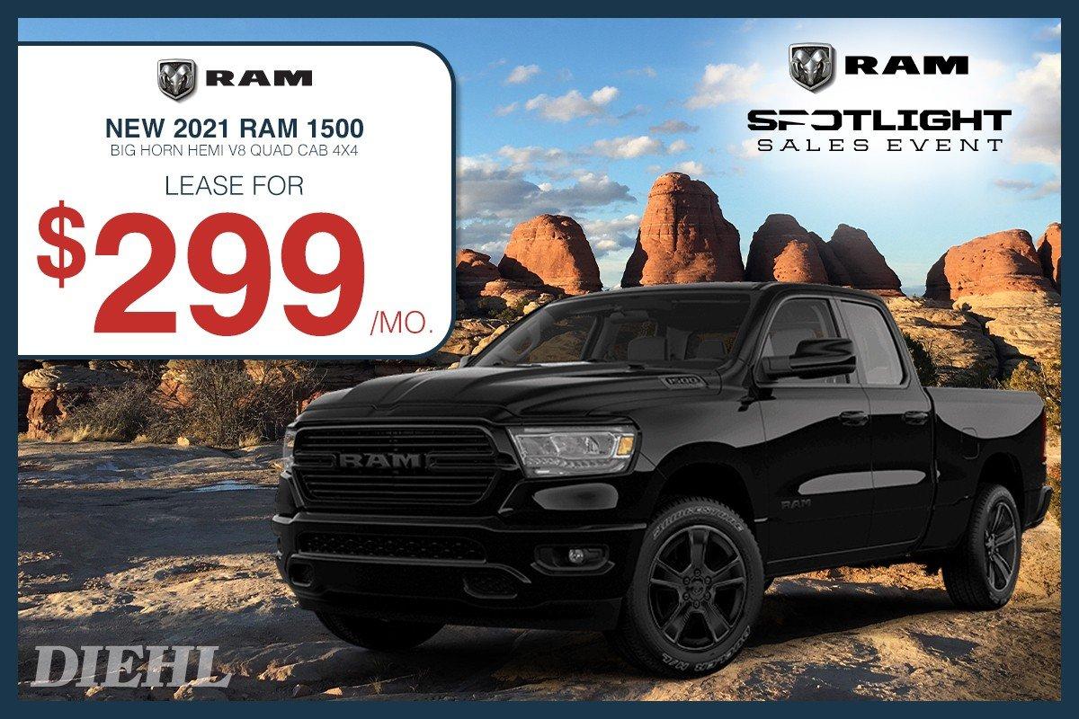Special offer on 0 Ram  2021 RAM 1500