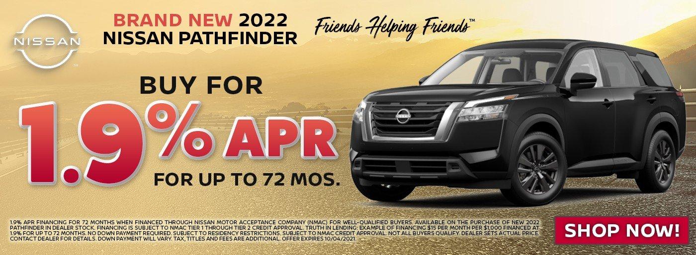 Special offer on 2022 Nissan Pathfinder 2022 Nissan Pathfinder