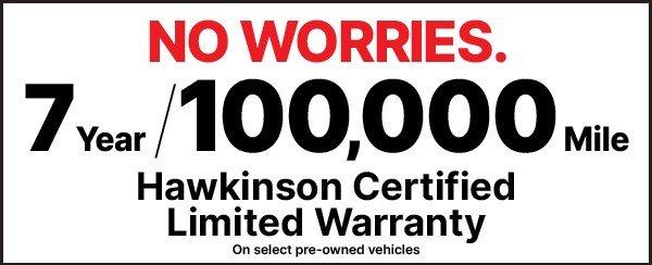 7 Year, 100,000 Mile Hawkinson Certified Limited Warranty