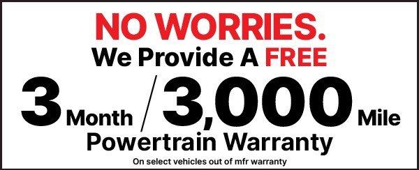 3 Month, 3,000 Mile Powertrain Warranty