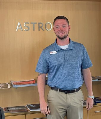 Floor Manager Alex Bassenger in Sales at Astro Ford
