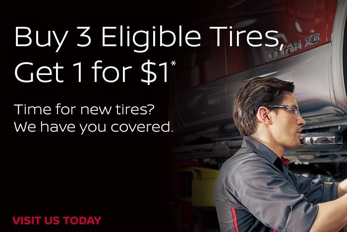 Coupon for Buy 3 Eligible Tires, Get 1 for $1* Time for new tires? We have you covered.