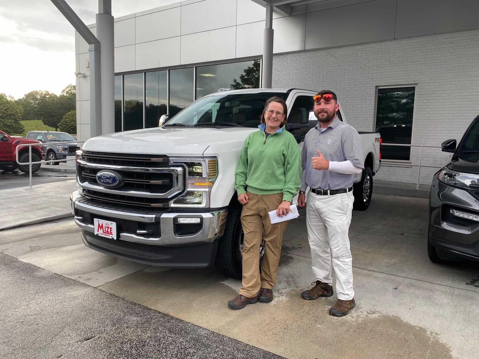 buying a white f150 at Marshal Mize Ford in Hixson, TN