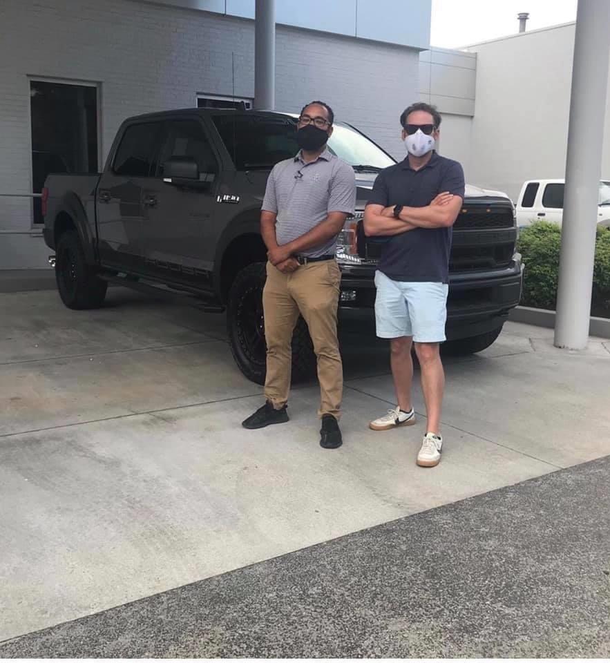Buying a grey F150 at Marshal Mize in Hixon, TN