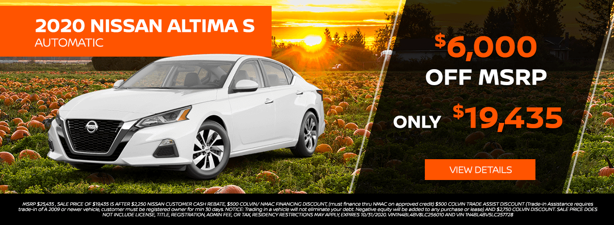 nissan altima s offer