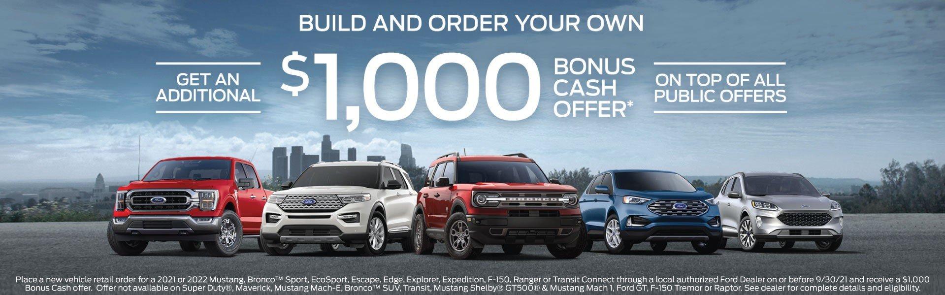 Bozard Ford Retail Order Incentive 9-30-21