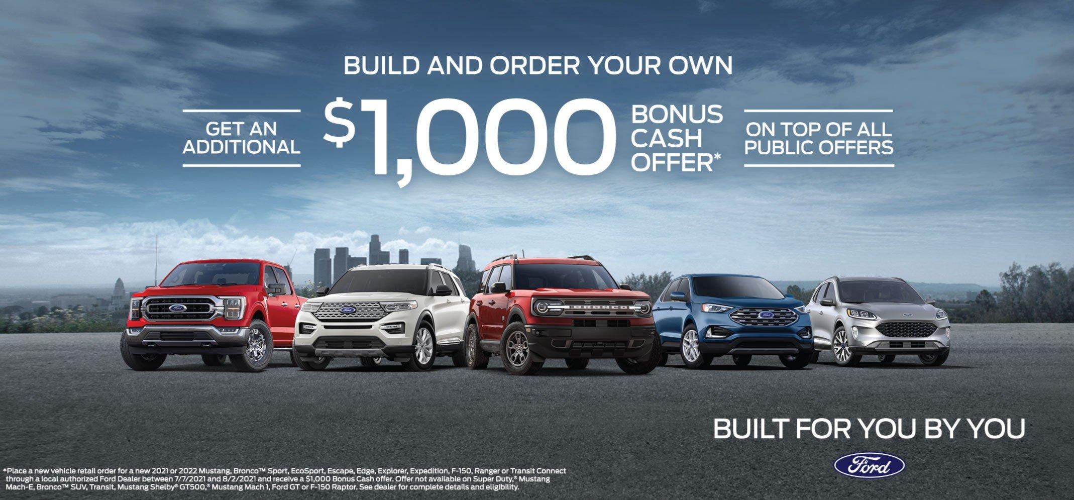 Bozard Ford Retail Order Incentive 8-2-21