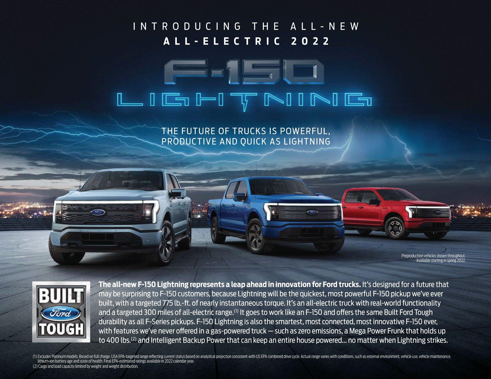 All New Ford Lightning Electric Truck Jacksonville