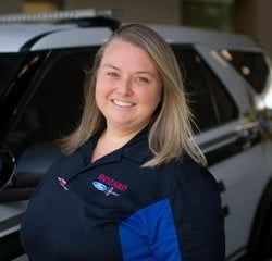 Commercial & Mobile Service Manager Crystal Garrison in Service at Bozard Ford Lincoln