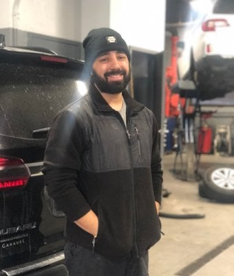 Technician George Collazo in Service at Garavel Subaru