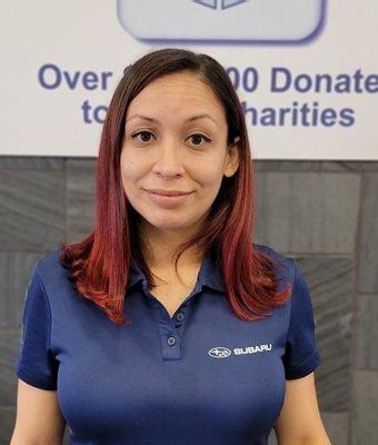 Certified Sales Consultant Evelyn Santiago in Sales at Garavel Subaru