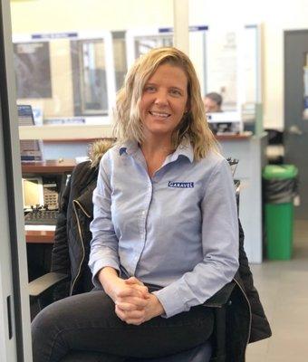 Assistant Service Manager Anneli Labriola in Service at Garavel Subaru