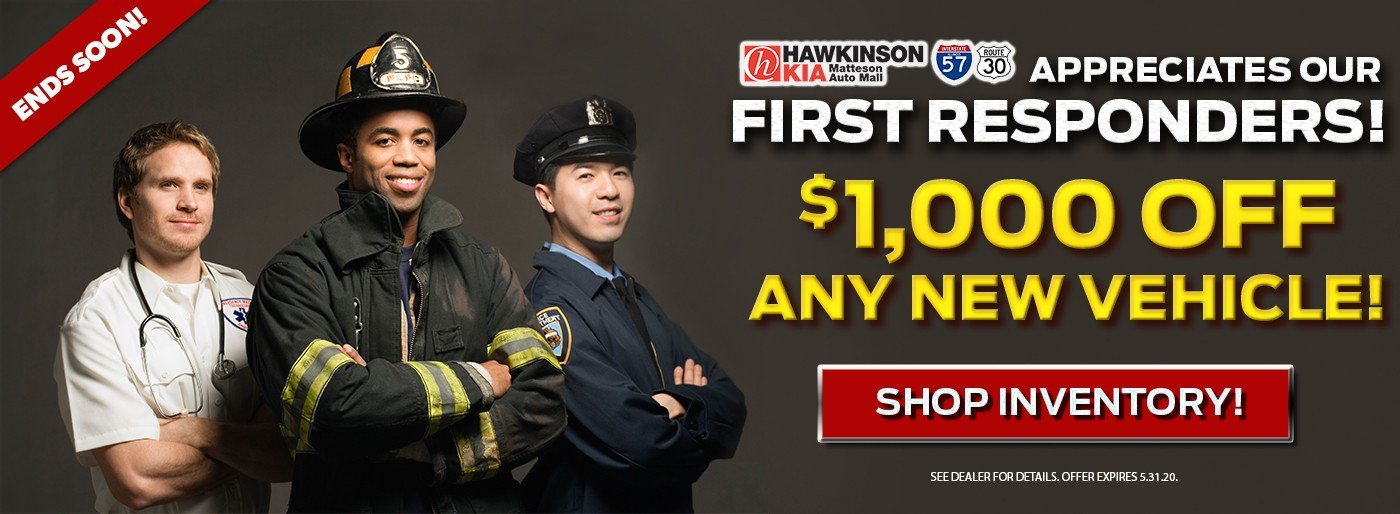 Special offer on 2020 Kia Sportage We Appreciate Our First Responders!
