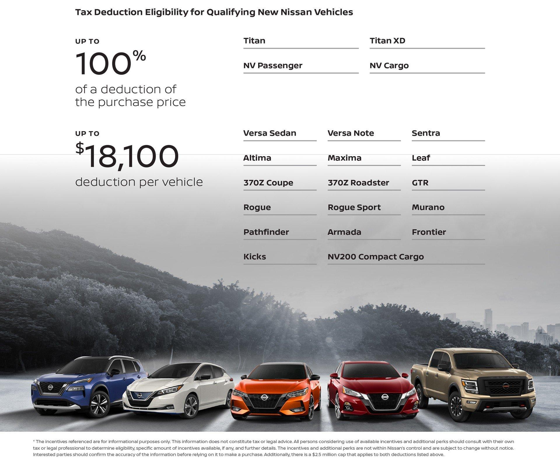 Nissan Tax Deductions