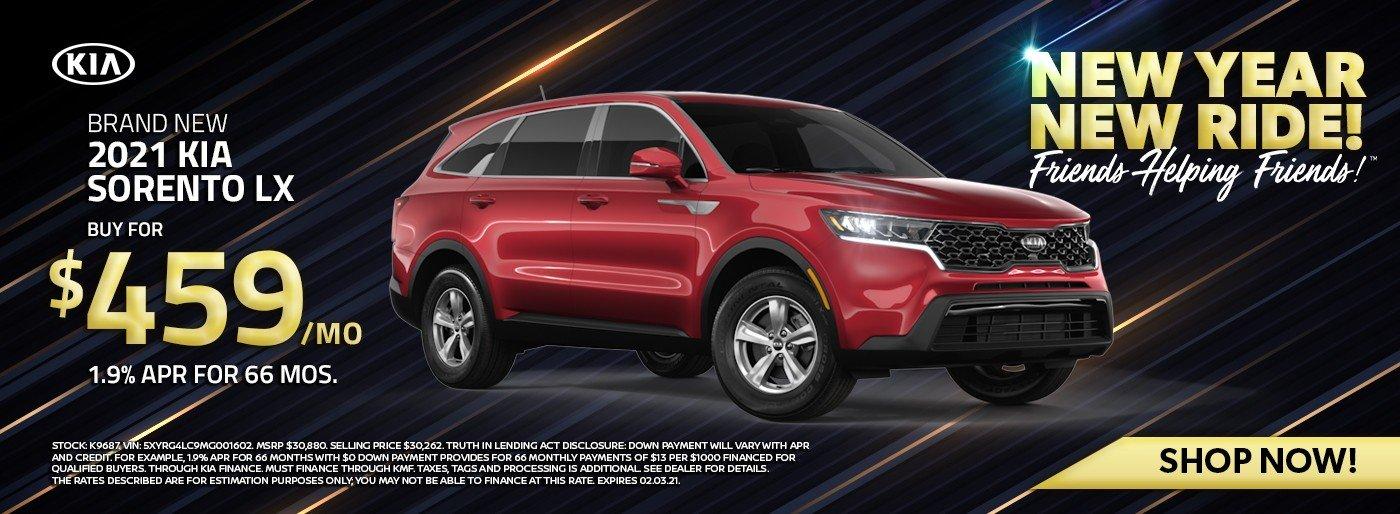 Special offer on 2021 Kia Sorento 2021 Kia Sorento LX