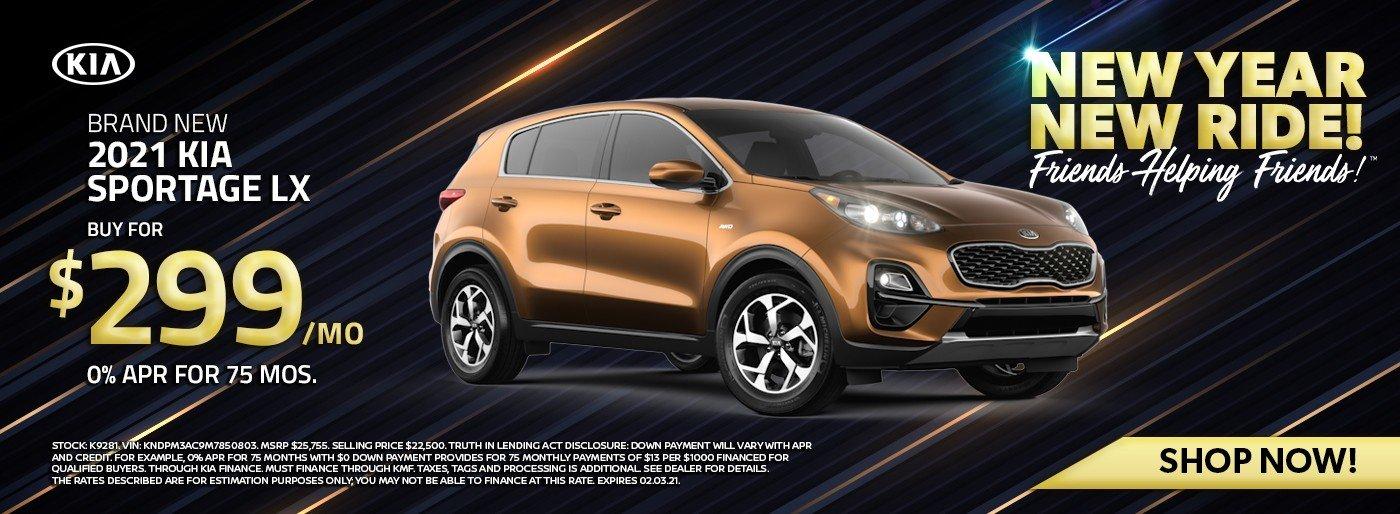 Special offer on 2021 Kia Sportage 2021 Kia Sportage LX