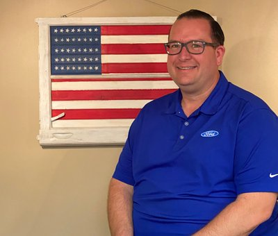Parts Manager Dan Kerr in Parts at Grove City Ford