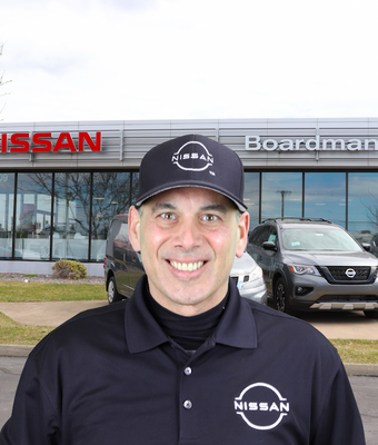 Express Service Advisor Mark Nori in Service at Boardman Nissan