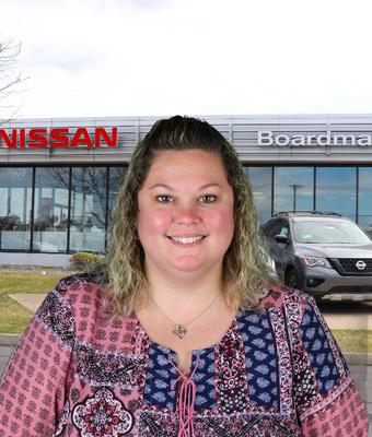 Cashier Jennifer Hartman in Administration at Boardman Nissan