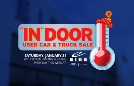 Indoor Used Car and Truck Sale Graphic