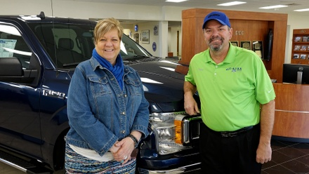 Fran Martin and Deno Mueller of Eide Ford