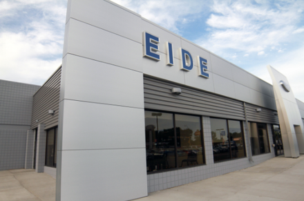exterior of the Eide Ford dealership in Bismarck