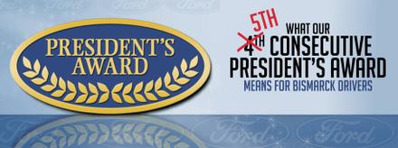 Banner of Eide Ford's President's Award logo