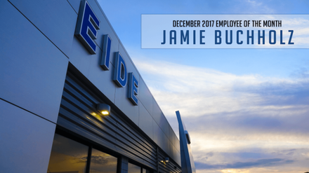 Jamie Buchholz, Internet Sales Specialist, is our Employee of the Month for December 2017!