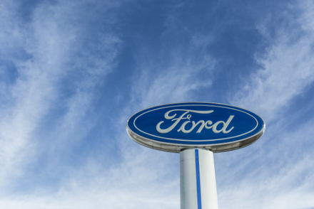 Ford logo on a sign