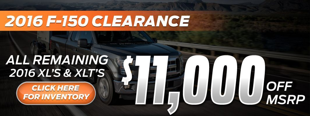 F-150 Clearance at Eide Ford during Black Friday