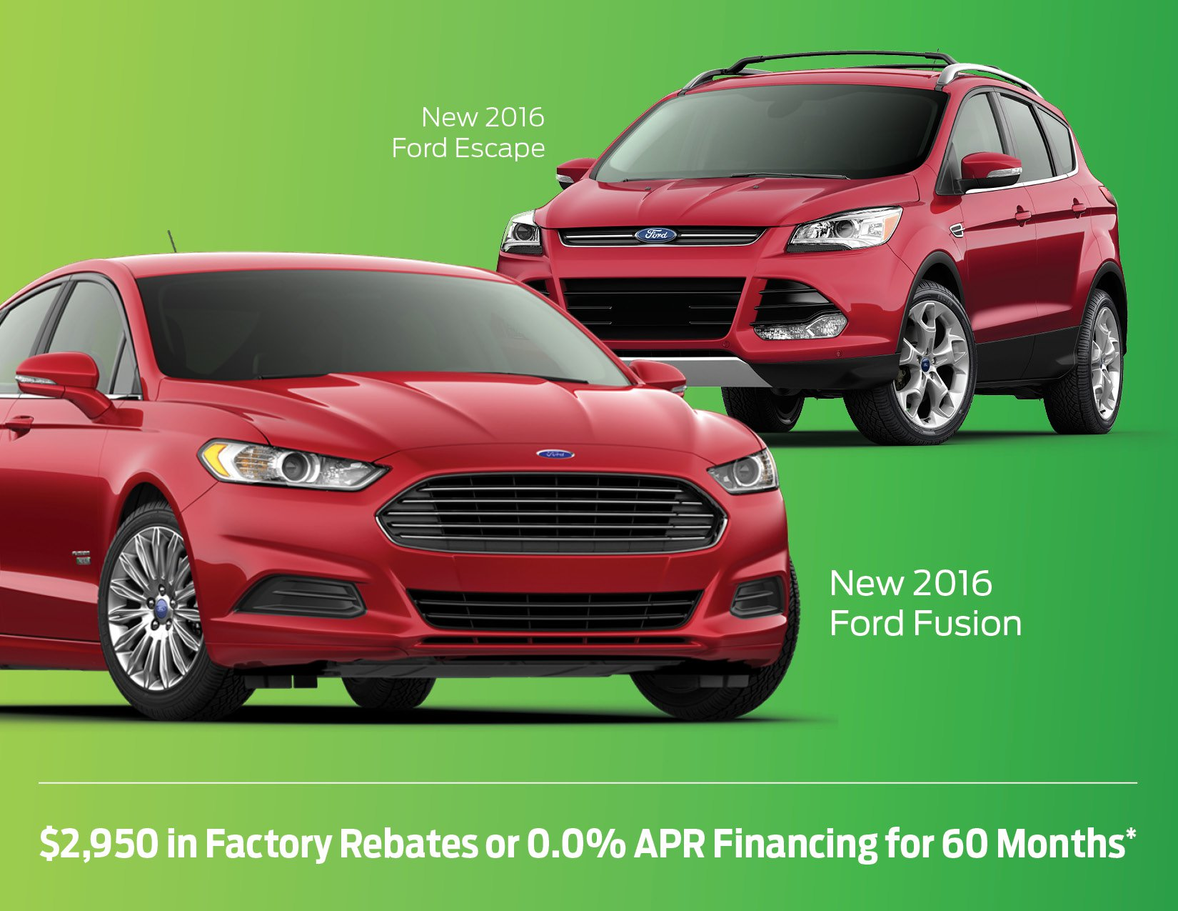 New Ford Fusion and Escape in Bismarck