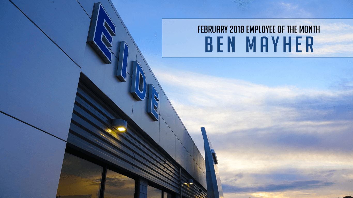 Ben Mayher – Eide Ford's February 2018 Employee of the Month