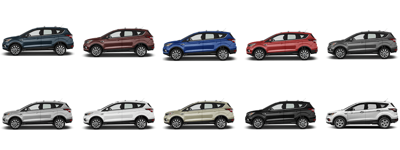The 2018 Ford Escape comes in ten color options.