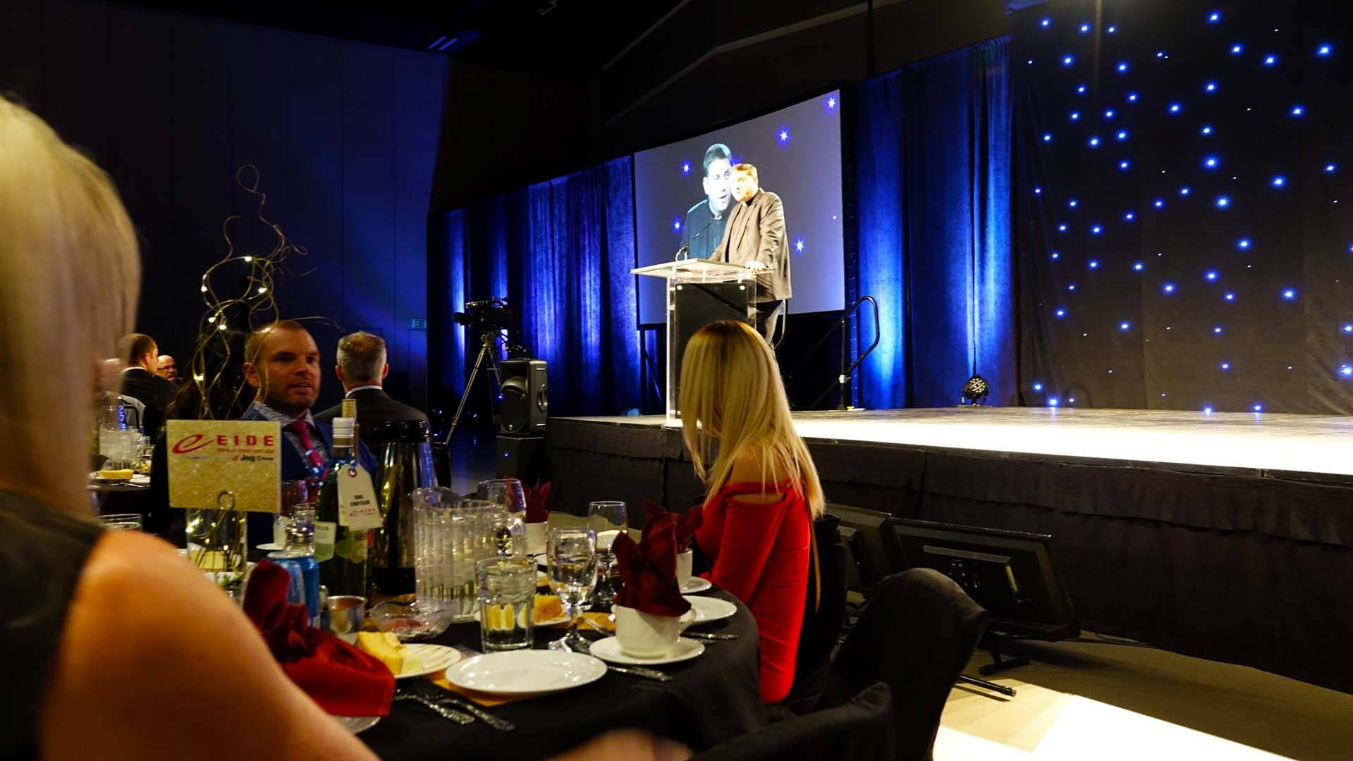 Eide Chrysler and Eide Ford sponsored the Bismarck-Mandan Chamber Annual Dinner