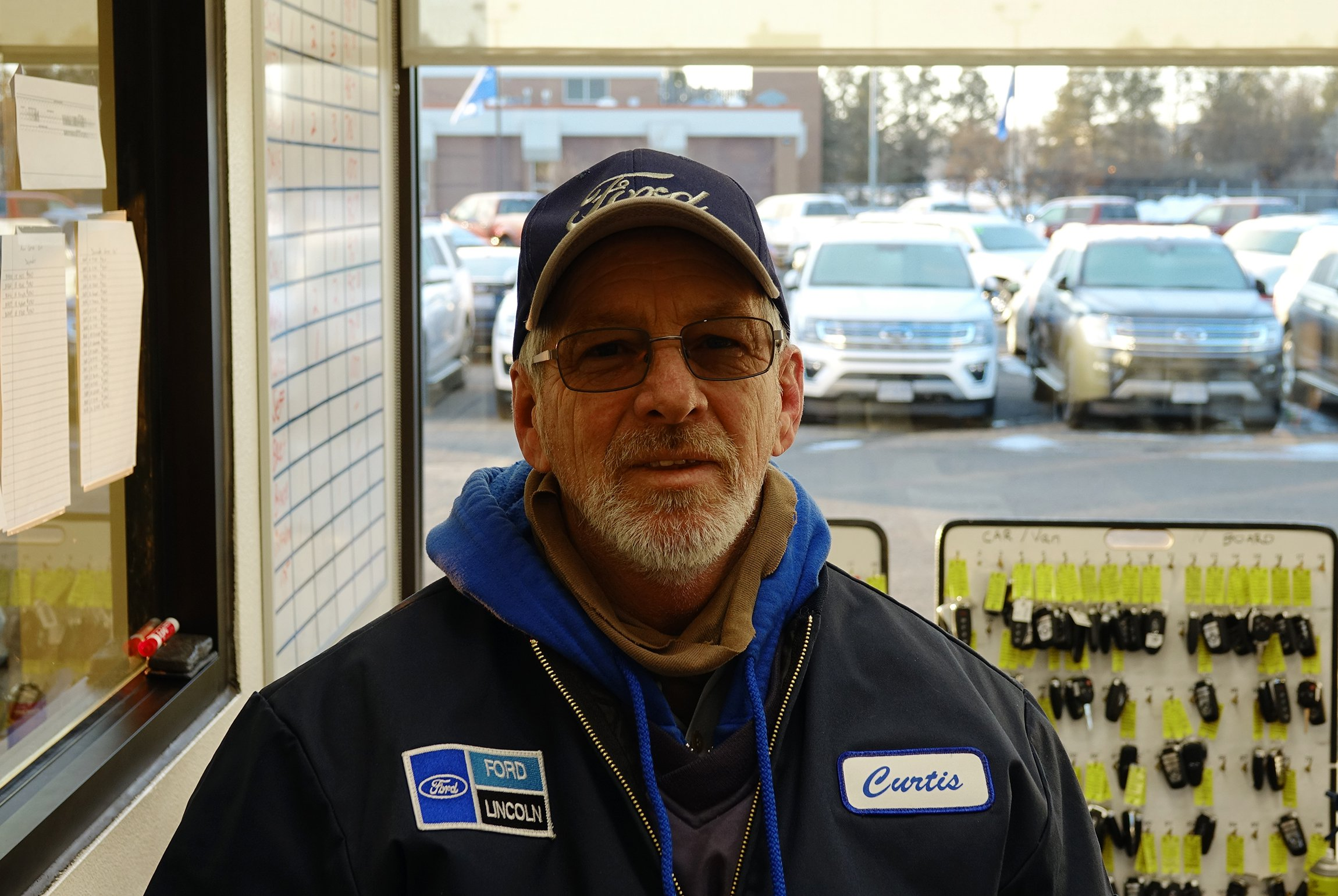 The Eide Ford employee of the month is Curtis Sheelar, the lot manager!