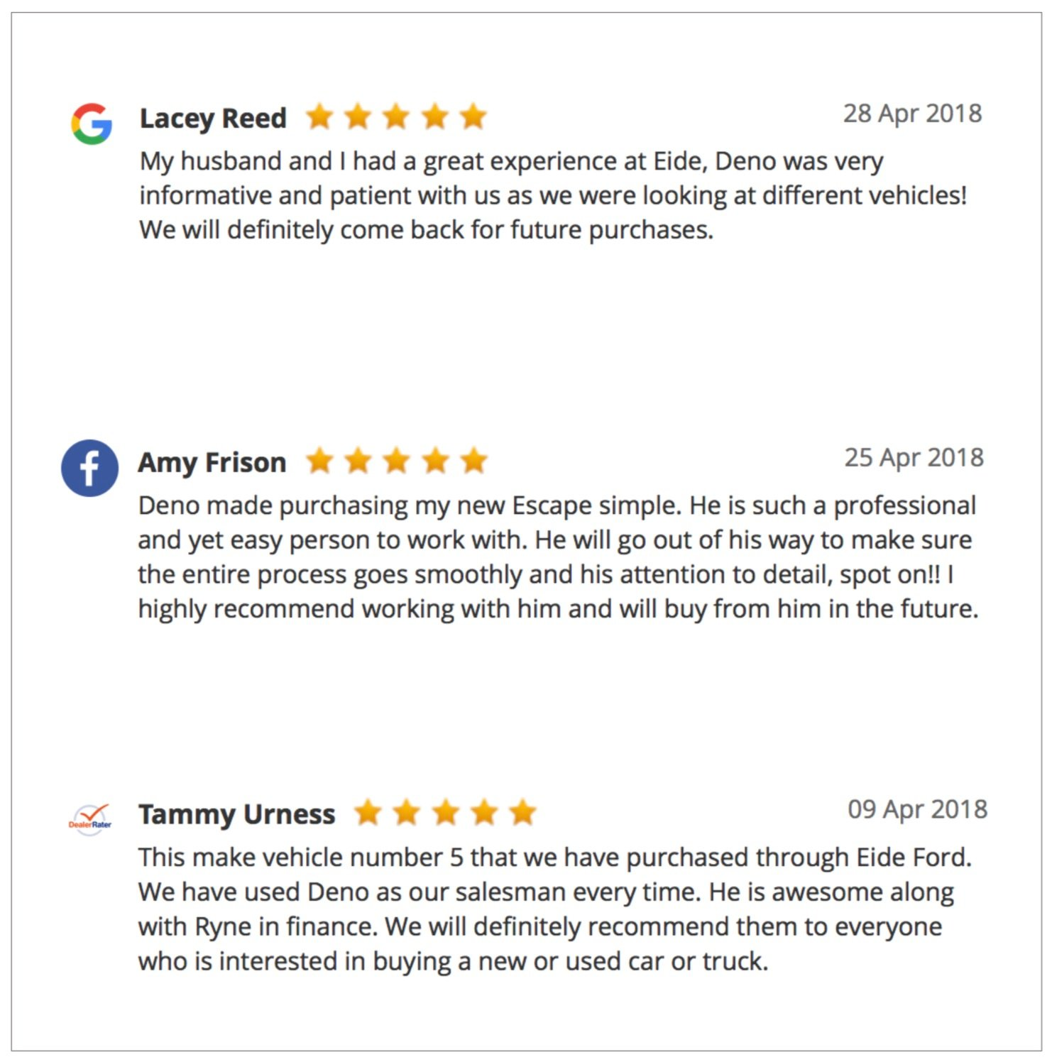 Deno Muller Reviews
