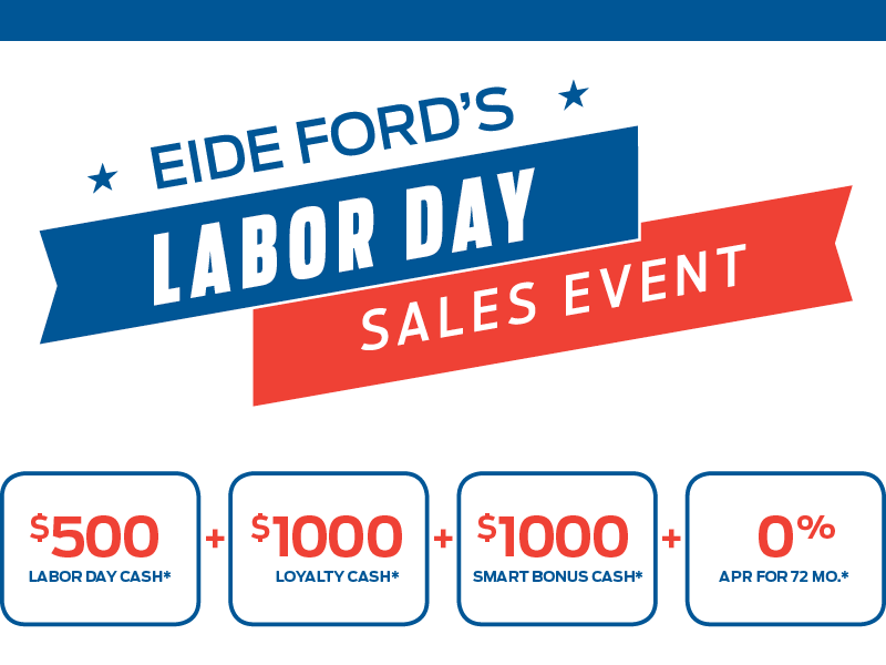 Eide Ford's Labor Day Sales Event