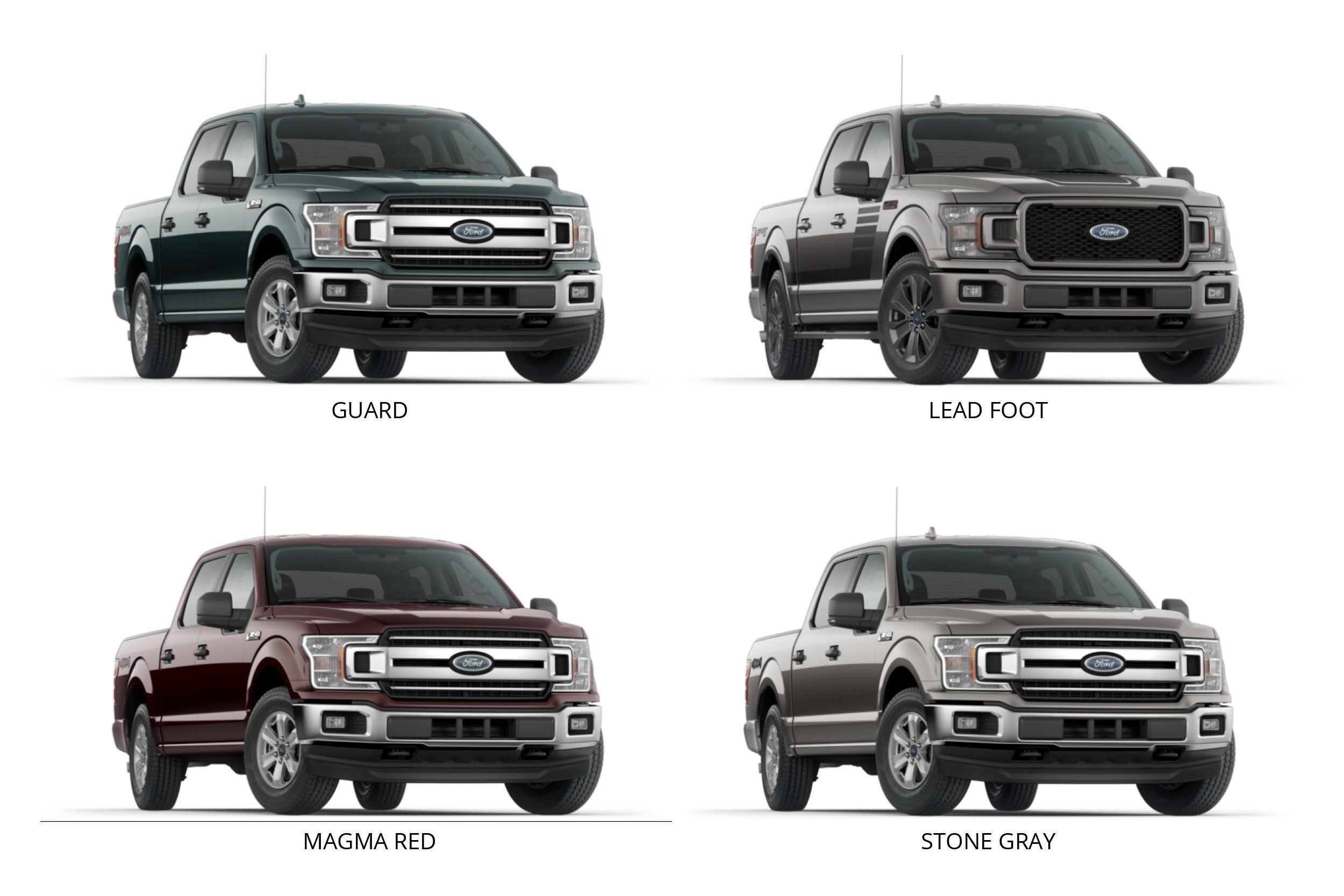 New 2018 F-150 Colors
