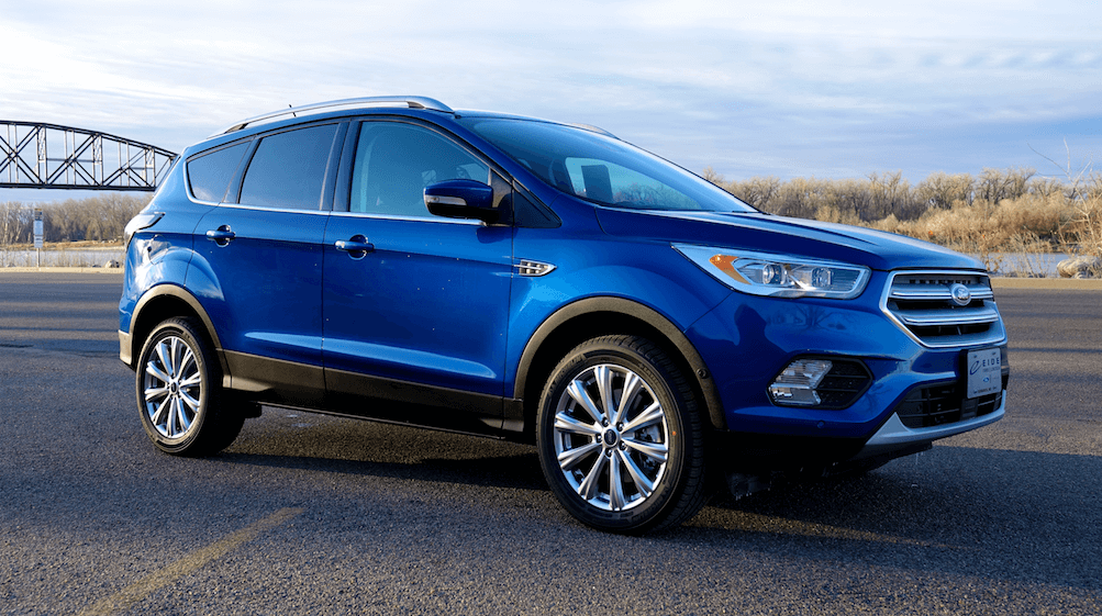 The sleek exterior of a North Dakota 2018 Ford Escape.