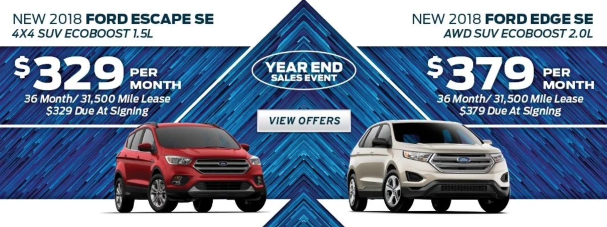 You can save on a Ford Escape or Edge this month at Eide Ford!