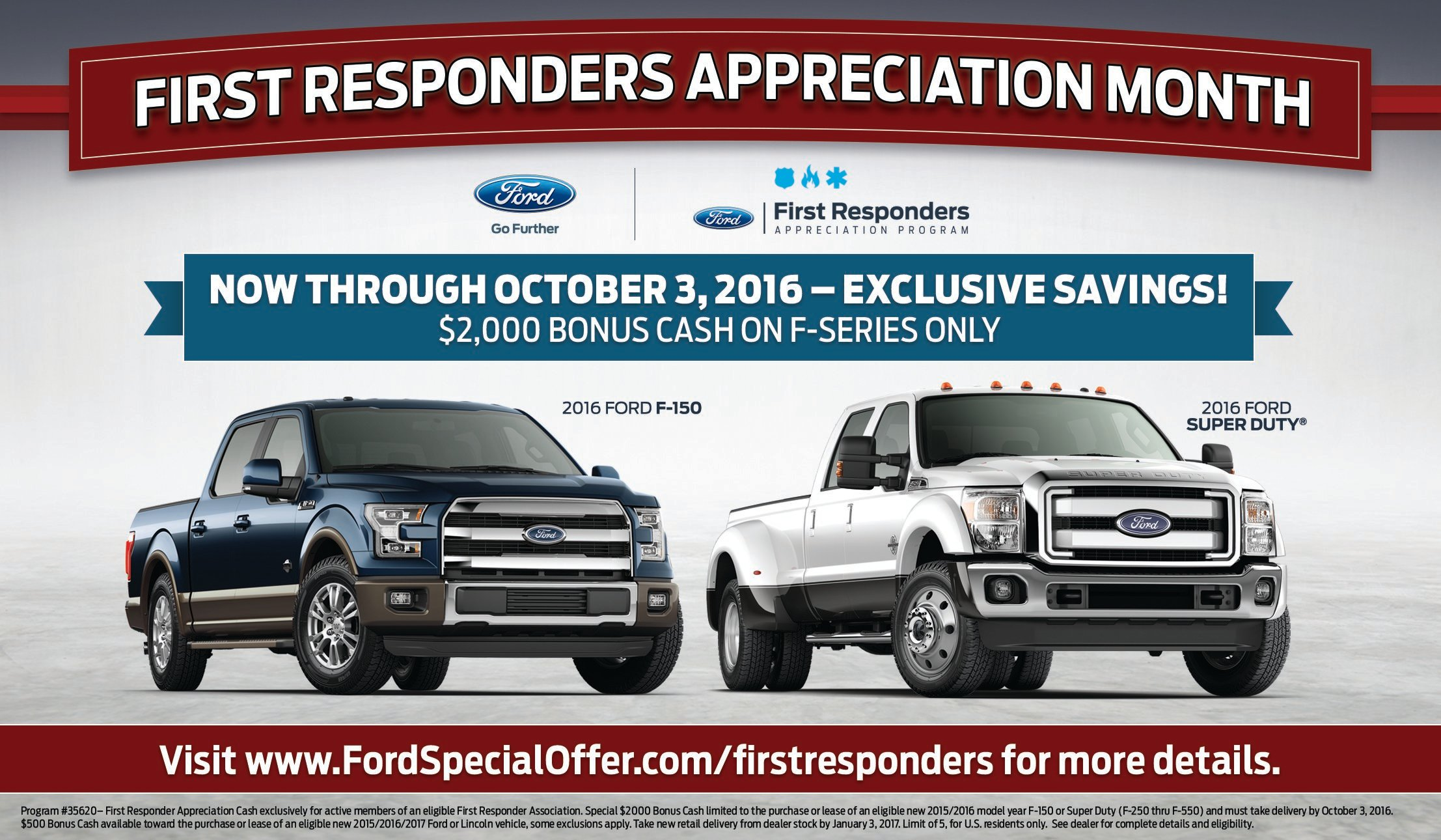 Ford First Responder Bonus Cash Bismarck
