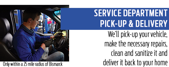 Service Department Pick-Up & Delivery