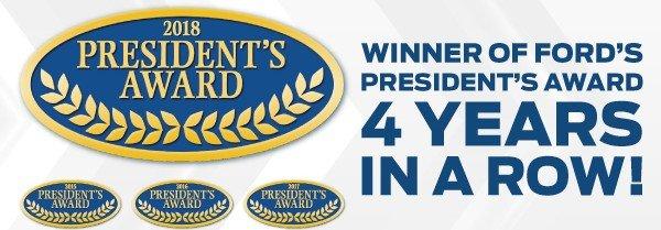 Eide Ford Winner of the Presidents Award