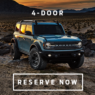 Reserve your 2021 Ford Bronco 4-Door at Eide Ford