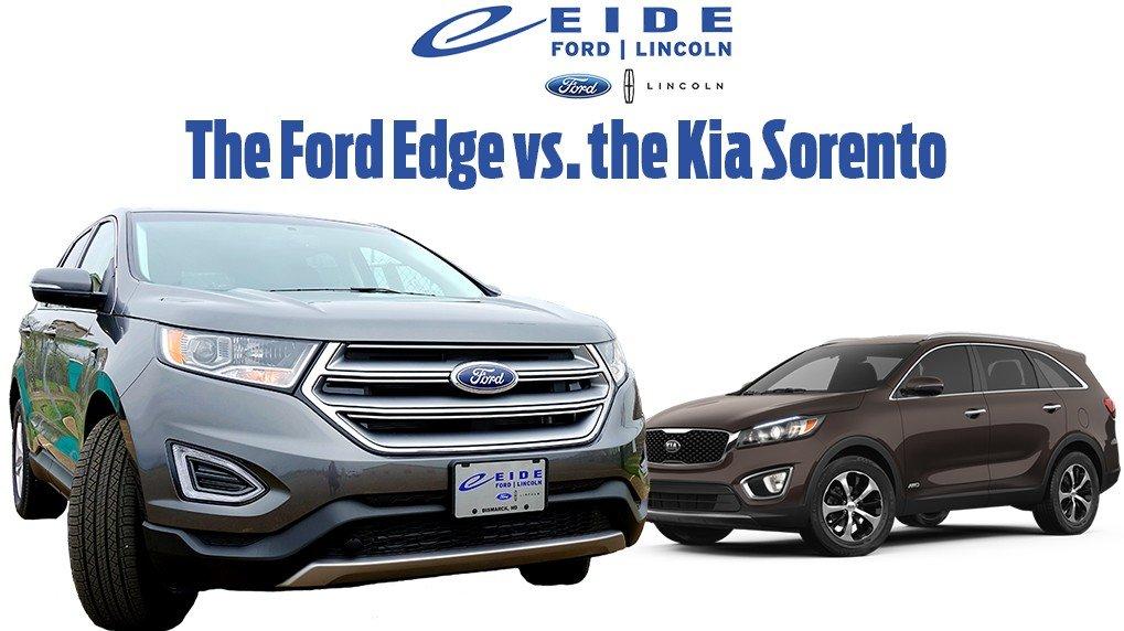 whats  difference   ford edge  kia sorento