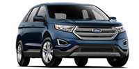 blue ford edge suv