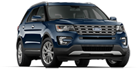 blue ford explorer suv